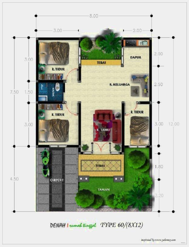 gambar denah rumah simple 1