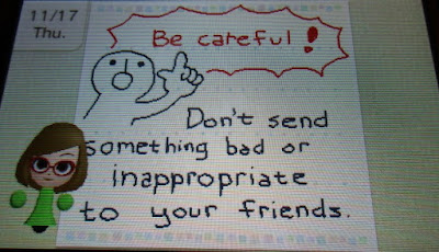 Swapdoodle Nikki be careful don't send something bad or inappropriate to your friends warning
