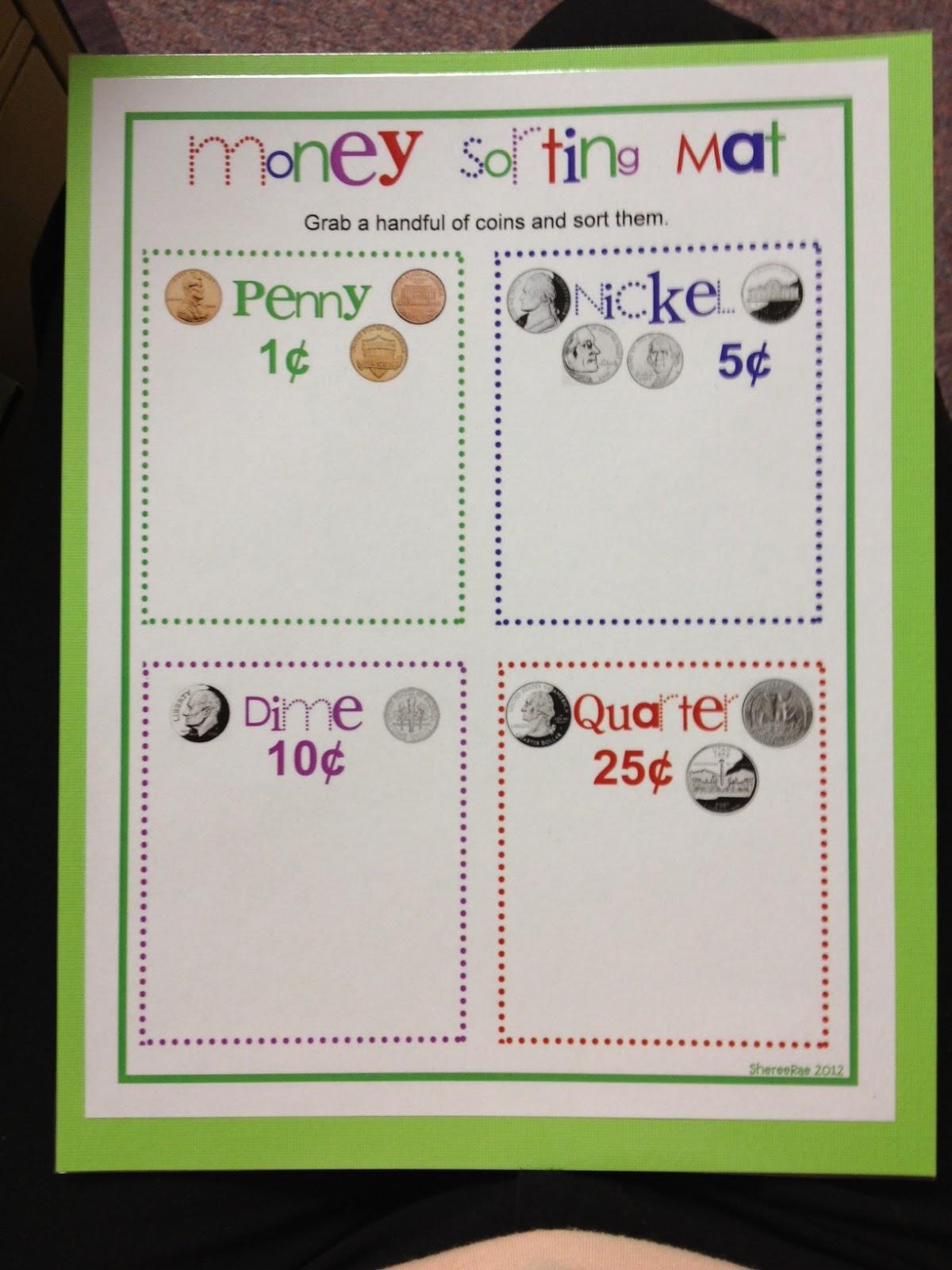 Mrs Hodge And Her Kindergarten Kids Money Sorting Mat