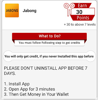 How to complete earn more  offer online Jabong app