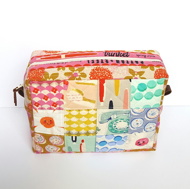 Cotton + Steel Trinket Case by Heidi Staples of Fabric Mutt