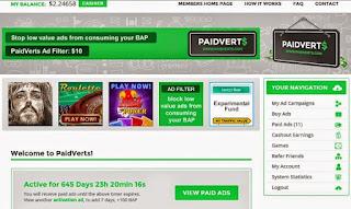 شرح الربح من الانترنت موقع paidverts