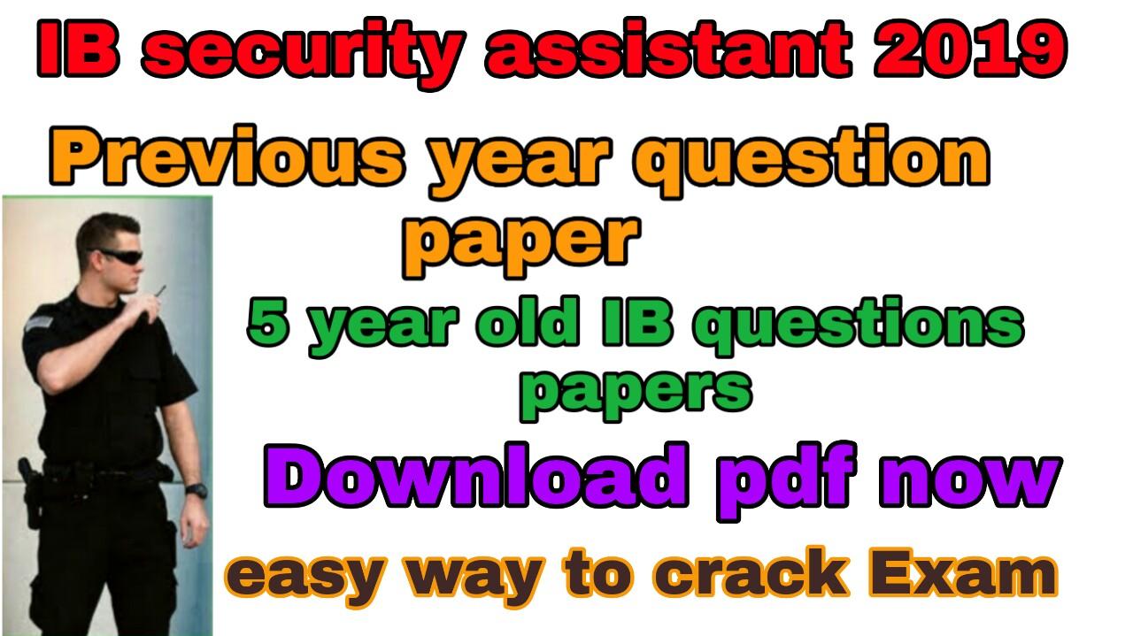 Pdf paper exam ib question
