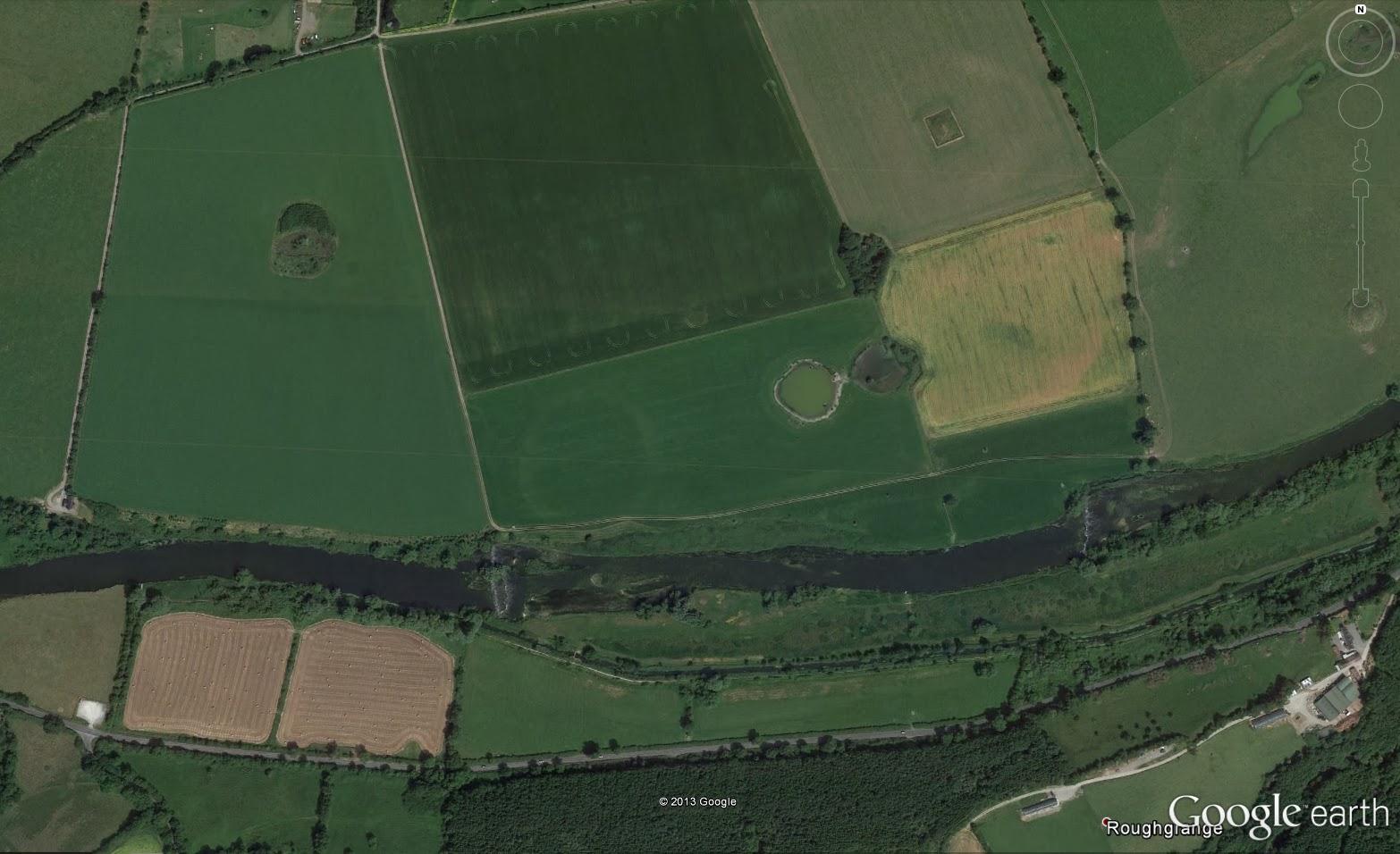 Map Of Ireland Newgrange.Mythical Ireland Blog Newgrange Henge Site P Clearly Visible In