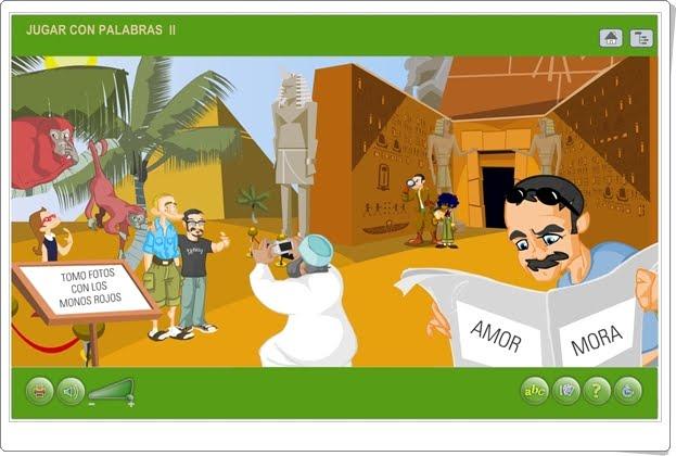 """""""Jugar con las palabras II"""" (Aplicación interactiva de juegos de palabras)"""