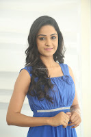Divya Nandini stunning Beauty in blue Dress at Trendz Exhibition Launch ~  Celebrities Galleries 035.JPG
