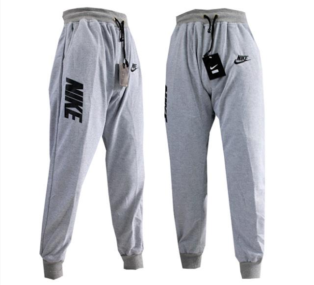 Celana Jogger Panjang Nike Abu Teks Hitam (Celana Training-olahraga)