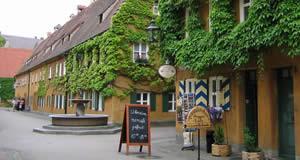 Vilarejo Fuggerei - Augsburgo, Baviera, Alemanha