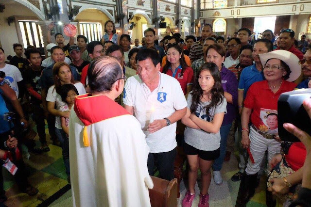 "Duterte warns Catholic voters: ""Don't vote for me or you will go to hell"""