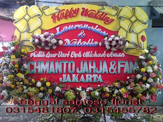 rangkaian karangan bunga papan ucapan pernikahan