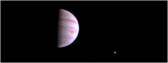 primeira foto de Júpiter da sonda Juno