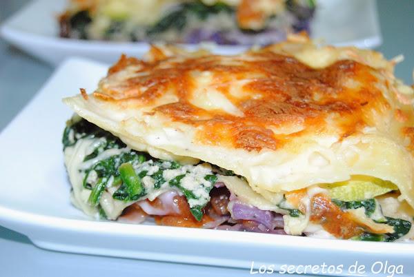 Receta del día: lasaña de pollo y verduras