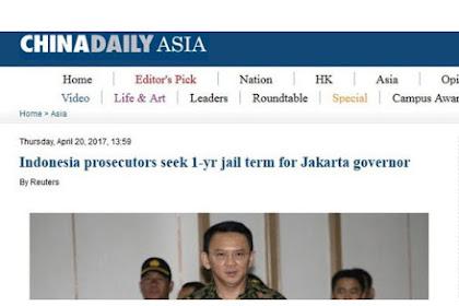 Cina Daily Sebut Islam Tak Bisa Memaksa Ahok di Penjara