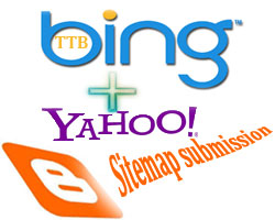 submit sitemap to bing and yahoo without any problem all