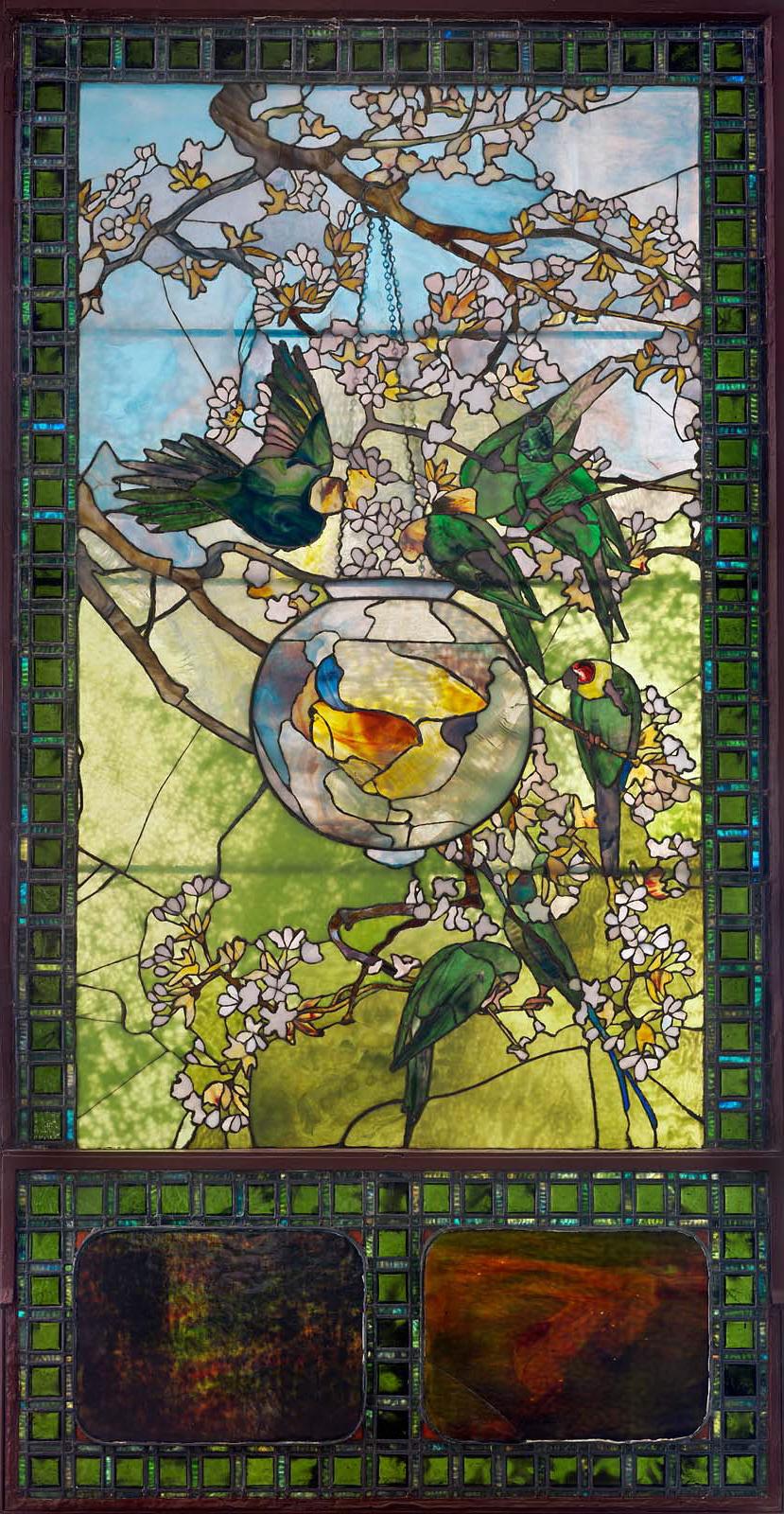 Bensozia Louis Comfort Tiffany Stained Glass Windows