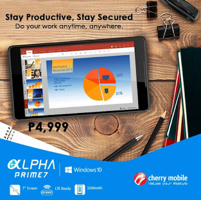 Cherry Mobile Alpha Prime 7 Announced, LTE Windows 10 Tablet for Php4,999