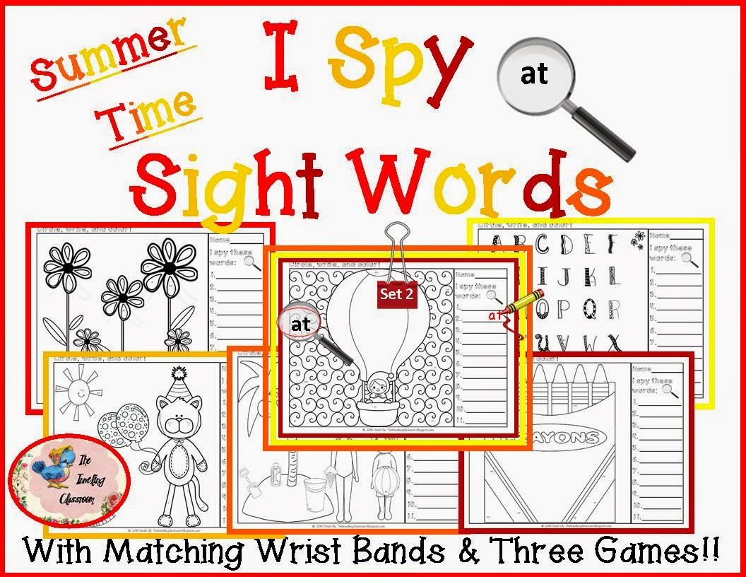 The Traveling Classroom New I Spy Sight Words