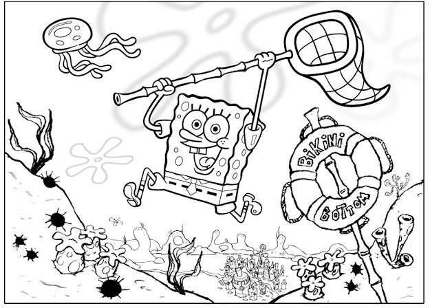 Nickelodeon Coloring Pages Spongebob Archives