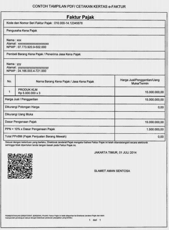 Ketentuan Pembuatan Faktur Pajak Elektronik E Faktur Tax Learning