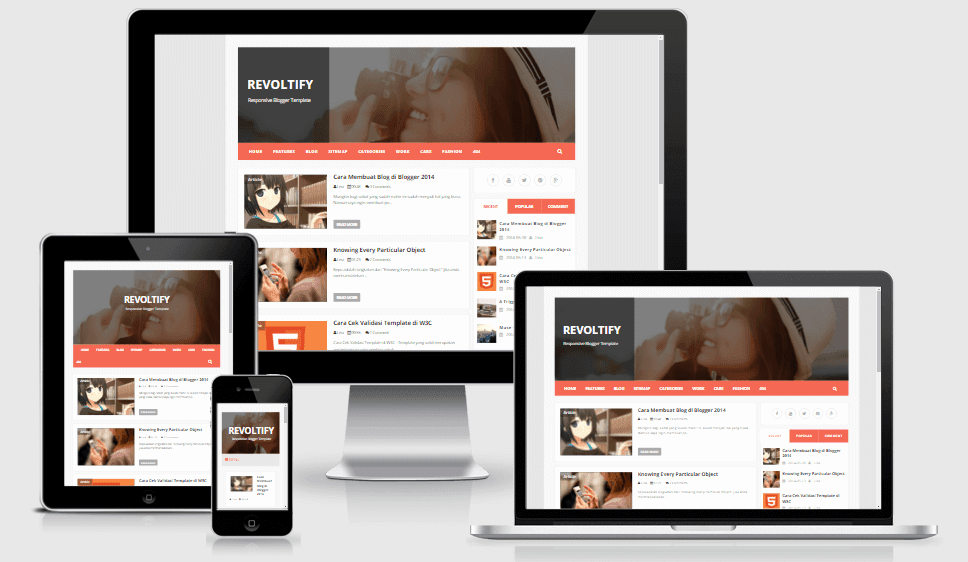 Download - Revoltify - Responsive Blogger Template