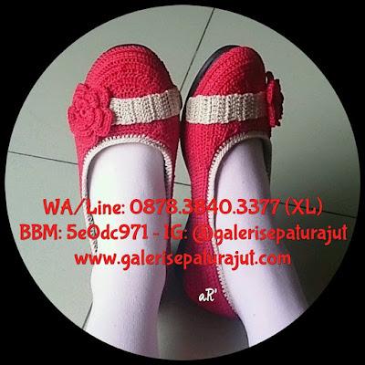 Sepatu Rajut Wanita Terbaru Model Slempang ~ 0878.3840.3377 (XL)