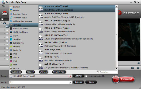 streaming format via WD TV Live Media Player