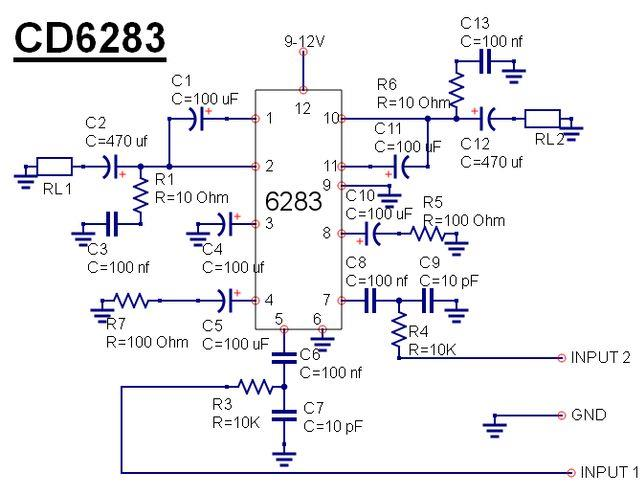 All electronics circuit and information ic cd6283cs circuit and ic 6283 cs description ccuart Images