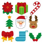 いろいろなクリスマスのマーク