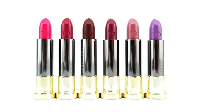Urban Decay Vice Lipsticks Crush, Jilted, Rock Steady, Afterdark, Violate, Twitch