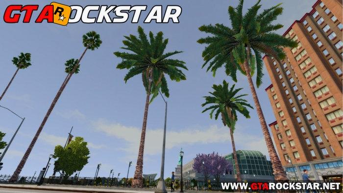 GTA IV - Mod Arvores e Palmeira do GTA V for GTA IV