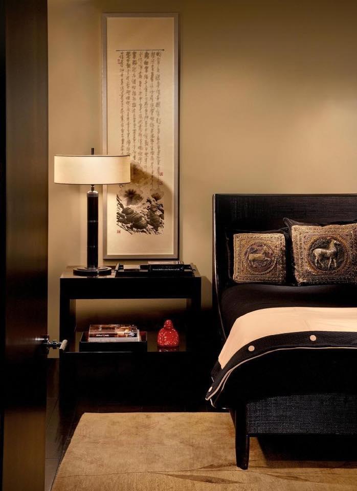 Thư pháp treo tại phòng ngủ