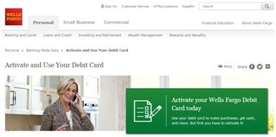 Activate My WF Credit Card  Wells Fargocomactivatecard