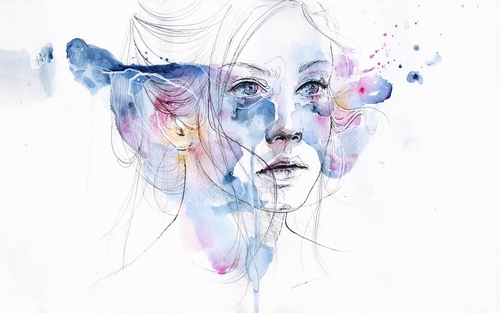 16-Water-Show-Silvia-Pelissero-agnes-cecile-Watercolor-and-Oil-Paintings-Fading-and-Appearing-www-designstack-co