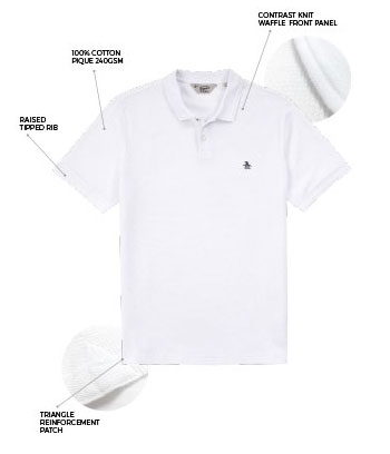 A Closer Look at the Original Penguin Waffle Front Polo