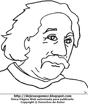Dibujo de Albert Einstein para colorear, pintar e imprimir. Dibujo de Albert Einstein de Jesus Gómez