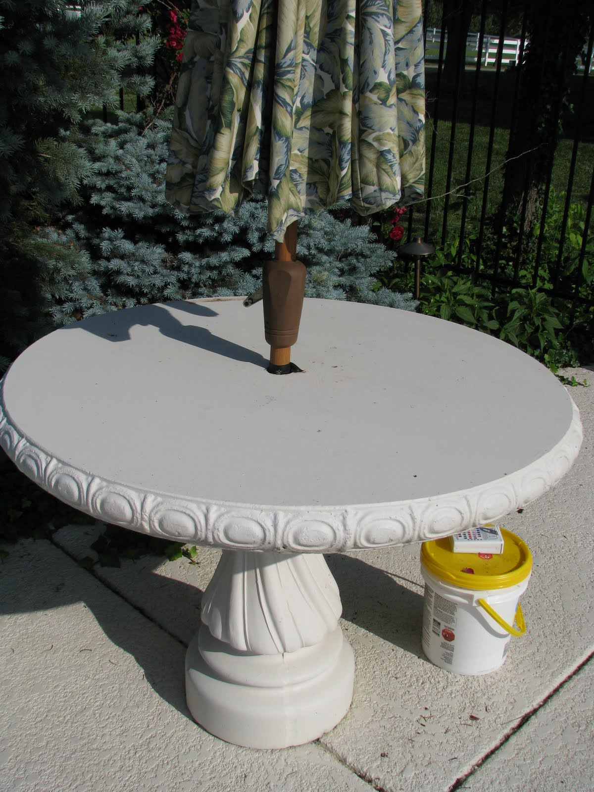 Whats With Us Staining Concrete The Magic Brush Inc Jennifer - Stained concrete table