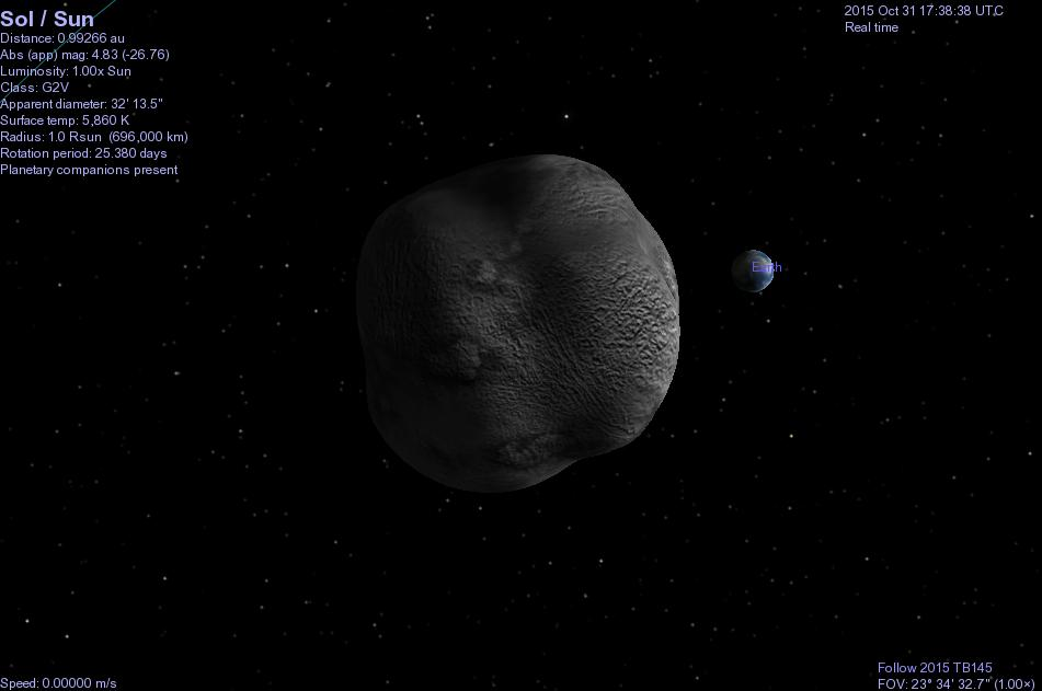 Astroblog: Celestia files for Near Earth Asteroid 2015 TB145