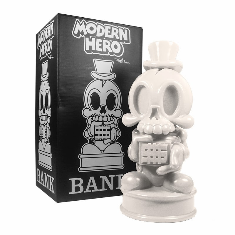 White Modern Hero Vinyl Bank by MAD