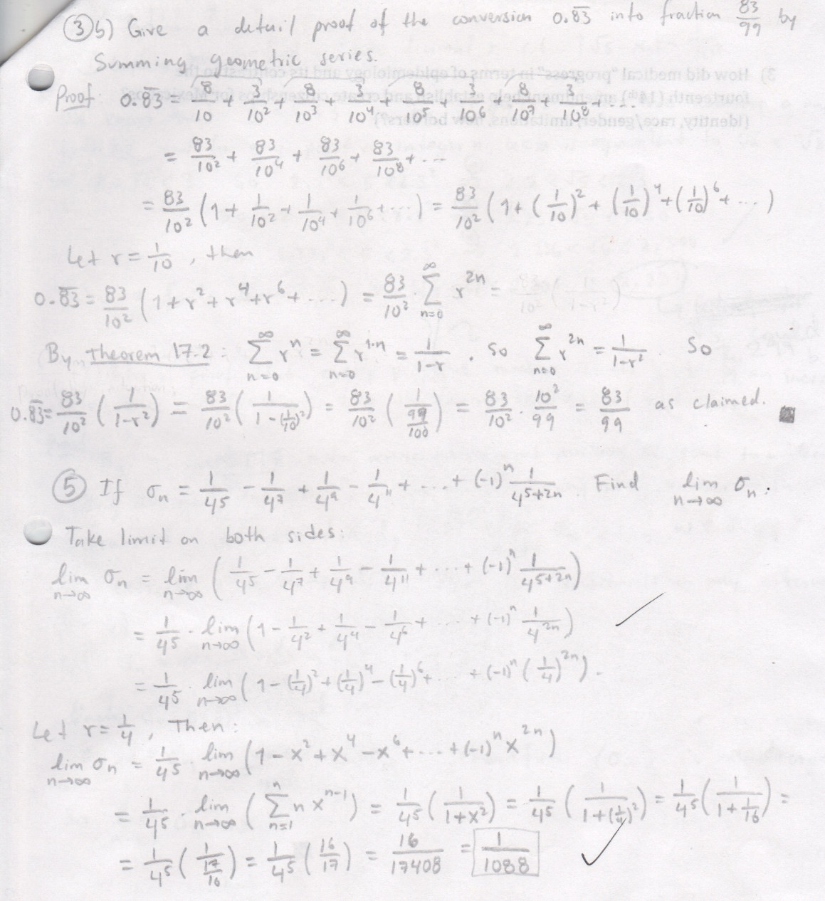 My old math homework from UC Berkeley