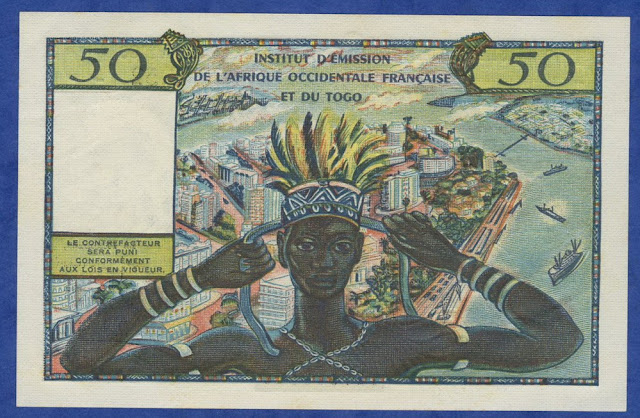 French West African paper money bank note franc CFA
