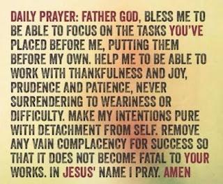 Daily Devotional : Today's Prayer