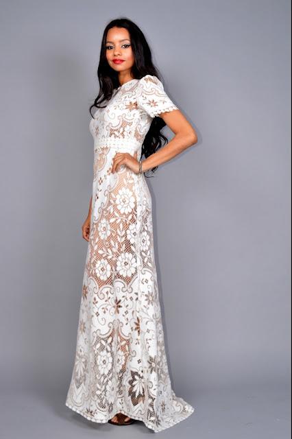 Bohoannabelle saldana vintage style wedding dresses for Vintage wedding dress los angeles