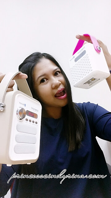 Girl posing with Pandora Neo products