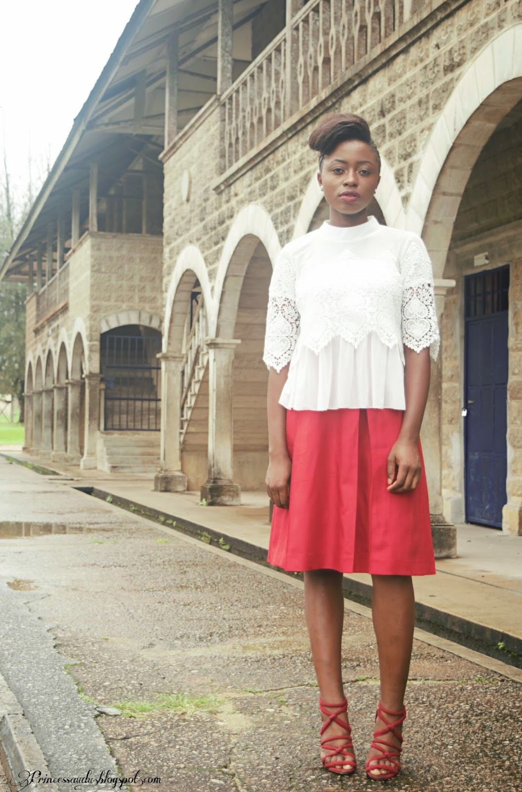 Romwe, white, lace, summer, crop top, midi skirt, Aline, Calabar, Cross River state