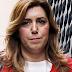Susana Díaz abucheada a su llegada al Ayuntamiento de Cádiz
