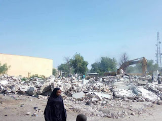 Photoos: Borno PDP Secretariat demolished