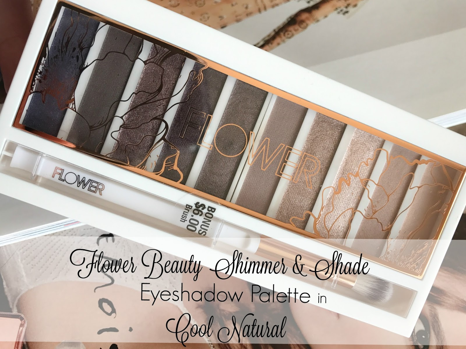 Flower Beauty Shimmer Shade Palette In Cool Natural Red Lipstick
