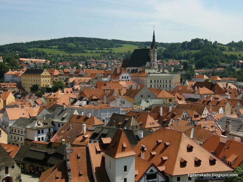 Czeski Krumlov - Panorama miasta