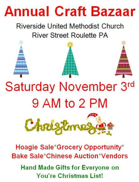 11-3 Craft Bazaar Riverside UMC