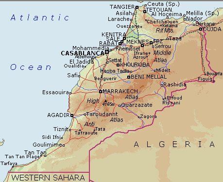 Marrocos | Mapas Geográficos do Marrocos